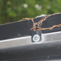 Tom's outback fix for a broken latch – tie wire