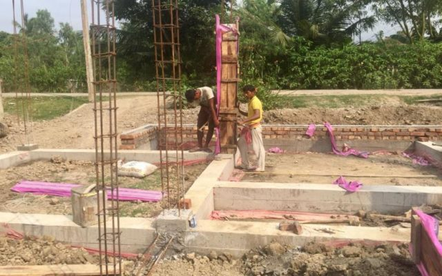 Construction in the Sunderbans Reserve