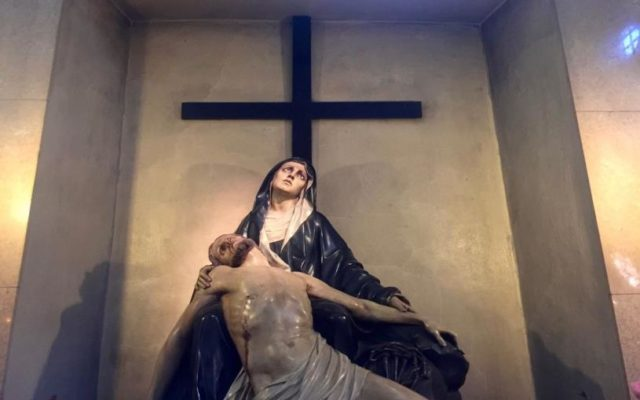 I thought this was better than many of the religious statues we have seen (or were to see) – the emotions of her face stay with you long after you leave her.